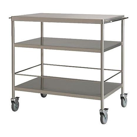 Ikea flytta - Carrello da cucina, acciaio inox - 98 x 57 cm: Amazon ...