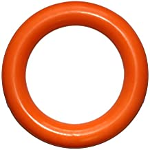 PlayfulSpirit Durable Natural Rubber Ring, Best for Tug War, Throw, Catch, Fetch Plays, Great Chew Toy for Puppies and Adult Dogs, Large, Orange