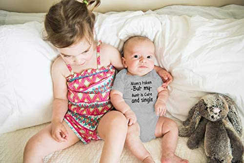 AW Fashions Mom's Taken But My Aunt is Cute and Single Cute One-Piece Infant Baby Bodysuit