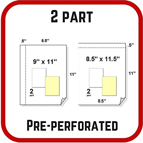 Nekoosa Universal Carbonless Paper 2-Part 8-1//2x11 2500 Sets//5000 Sheets