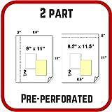 8.5 x 11.5 Nekoosa PRE-PERF Carbonless Paper, 2 Part Reverse, 2500 Sets, 5000 Sheets
