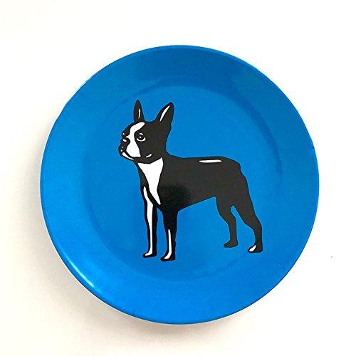 - Boston Terrier Plates (Set of 4)