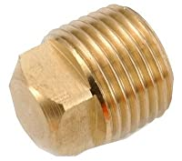 """ANDERSON METALS 756109-04 1/4"""" MPT Brass SQ Plug"""