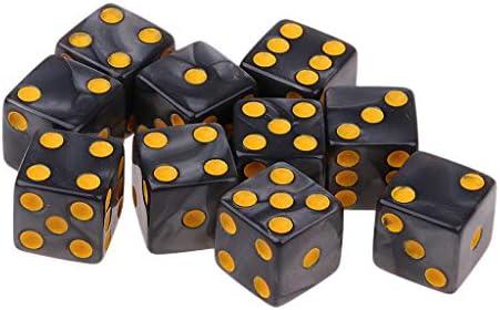 FLAMEER 10 Piezas D6 Dados para Juego de Mesa (Color Rojo / Naranja / Blanco / Azul / Gris para Selección) - Gris: Amazon.es: Juguetes y juegos