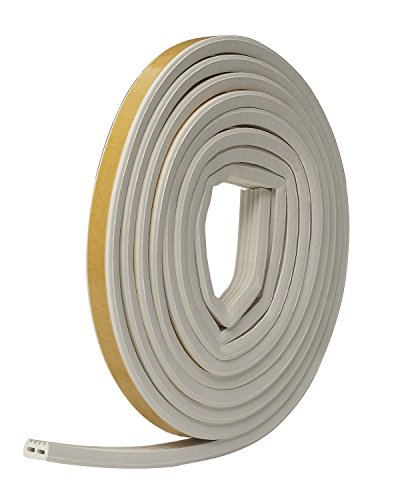Frost King V27WA Extreme Rubber Weather-Strip Tape Cushioned Ribbed 1/2-Inch by 5/16-Inch by 10-Feet, White (Frost King Window Kit compare prices)