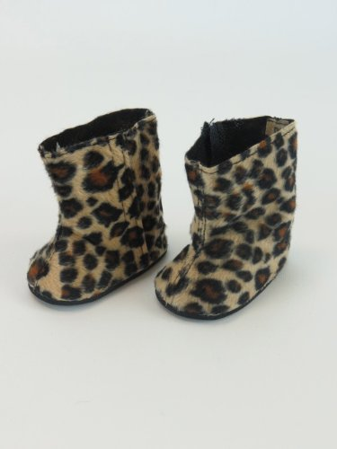 "Cute Leopard Boots -Fits 18"" American Girl Dolls, Gotz, Our Generation Madame Alexander and Others."