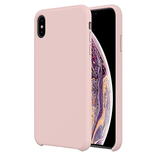 - Orzero Liquid Silicone Gel Rubber Case iPhone Xs Max Full Shock Absorbing Ultra Slim Protective [Baby Skin Touch]-Pink