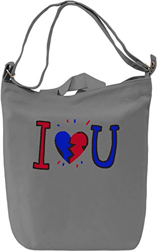 I Love You Borsa Giornaliera Canvas Canvas Day Bag| 100% Premium Cotton Canvas| DTG Printing|