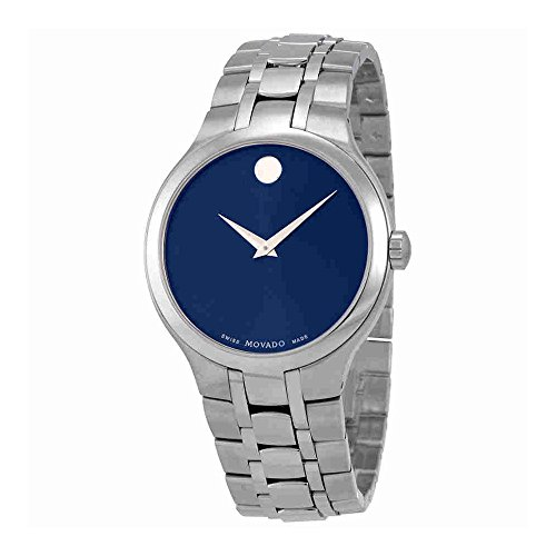 Movado Blue Dial Men's Steel Watch (Large Image)