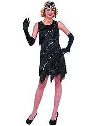 Forum Novelties Women's Midnight Dazzle Flapper Costume Dress