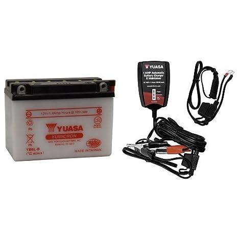 Amazon.com: Yuasa (yuam226lb) yb6l-b Batería y Cargador ...