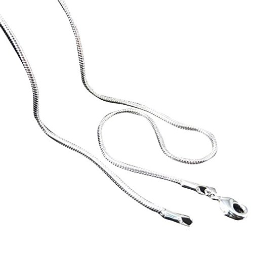 Snake 16-24inch Chain Necklace 1.5MM-3.5MM Delicate Italian Box Dainty Handmade Polishing 925 Sterling Silver Lovely Star Shell Turquoise Birthstone Jewelry Set Fashion Gifts for Women Girls (20)