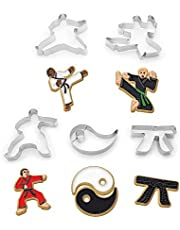 Fox Run Brands 36034 5-Piece Karate Cookie Cutter Set, Tinplated Steel