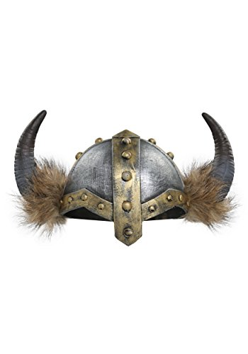 Viking Costumes Woman - Fun Costumes Women's Horned Viking Faux Fur Trimmed Helmet Standard