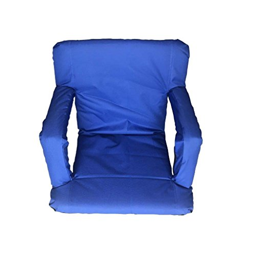 Polyester Folding Stadium Chair - Lightahead Folding Chairs Stadium Bleachers & Benches .Back & Arm Rest Padded Cushion Portable Floor Seats Picnic,Meditation,TV,Ball Park,Games