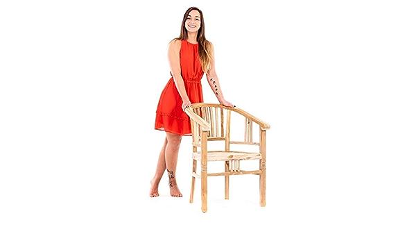 MACOShopde by MACO Möbel Juego de 4 sillas de madera de teca ...