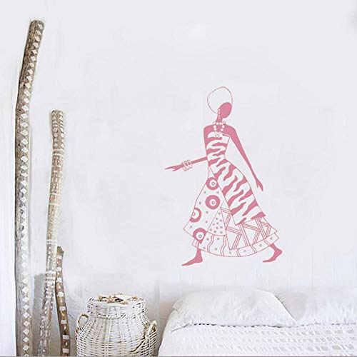 Wall Sticker New Arrivals African Woman Girl Wall Sticker Africa Culture Dance Style Mural Home Decor Art Decals Living Room Wall Decal 56x85cm Size can be ()