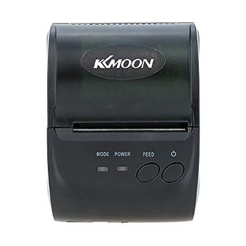 KKmoon 58mm Mini Bluetooth Wireless térmica de recibos ...