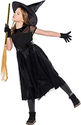 GJ688 Halloween Niño Mujer Bruja Disfraz Cosplay Vestido Fiesta ...