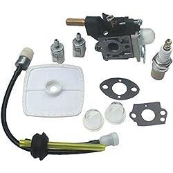 KIPA Carburetor Kit for Echo GT-200 HC-150 GC-150k HC-160 HC-181 HC-200 HC-201 PE-200 PE-201 PPF-210 PPF-211 SHC-210 SHC-211 SHC-212 SRM-210 SRM-211 A021000740 A021000741 ZAMA RB-K75 RB-K70A RB-K70