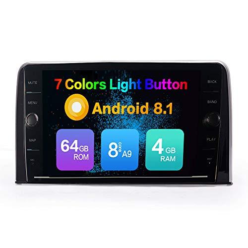 KUNFINE Android 8.1 Octa Core 4GB RAM 64GB ROM Car Steoro Multimedia Player Autoradio Headunit for Honda CRV 2017 with GPS Radio Bluetooth Calling Steering Wheel Control North America Map