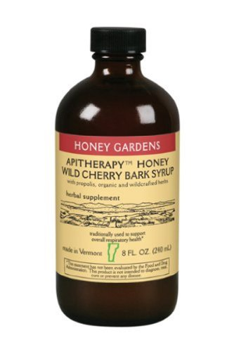 Honey Gardens Wild Cherry Bark Syrup, 8-Ounce