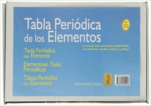 Tabla periódica de los elementos caja de 45 unidades: Amazon.es: Pascual Román: Libros