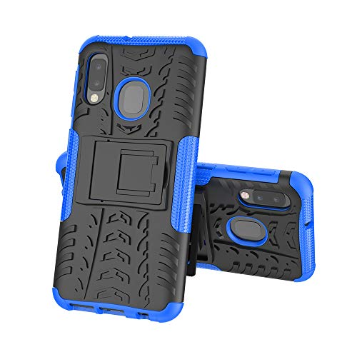 Galaxy A10E Phone Case,Galaxy A20E case with Kickstand,Slim Dual Layer Hybrid Rugged Armor Hard Shell Silicone Bumper Case Cover Compatible with Samsung Galaxy A10E/A20E,Blue
