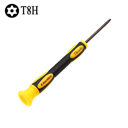 E.Durable Torx Security T8 T8H Screwdriver for XBOX 360 Wired and Wireless Controller, S2 Steel (Torx Security T8) ()