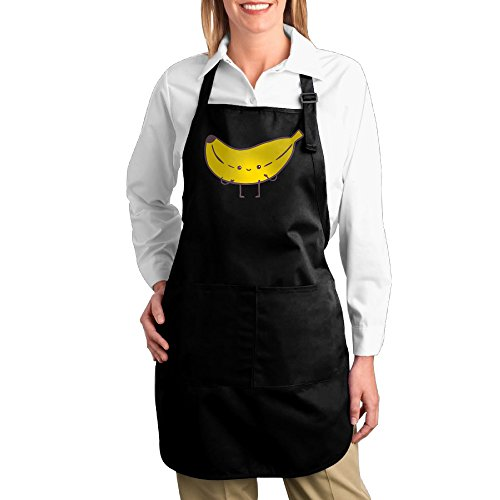 Dogquxio Banana Funny Kitchen Helper Professional Bib Apron With 2 Pockets For Women Men Adults (Wwe Costume Challenge)