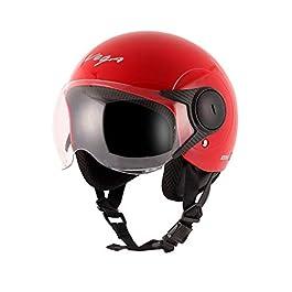 Vega Open Face Atom Red Helmet for Women (M)
