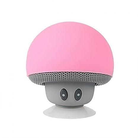 SainSonic Mini Altavoz Inalámbrico Bluetooth Jefe Mushroom Realista de Dibujos Qnimados con Succión Disco Soporte Calidad