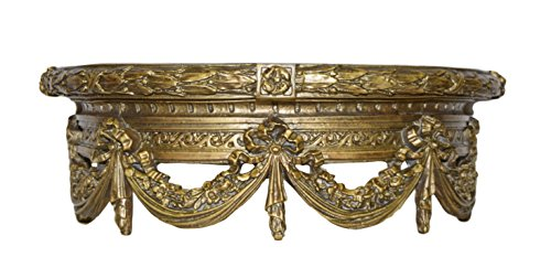 Hickory Manor House Swag Canopy Bedcrown/Antique Gold Bed Crown - Gold Antique Bed