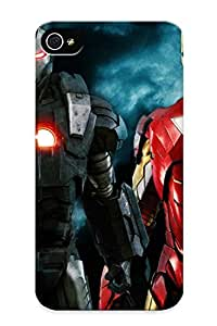 New MmmWZL-1037-snybt Iron Man War Machine Tpu Cover Case For Iphone 4/4s - Best Gift Choice For Christmas