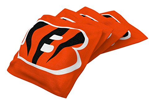 Wild Sports NFL Cincinnati Bengals Orange Authentic Cornhole Bean Bag Set (4 Pack)
