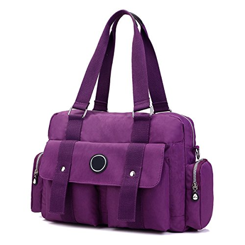 Frauen Jahrgang Leinwand Schulter Aktentasche Messenger Handtasche Seite Geschäft Tasche ,B-OneSize