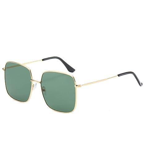 Yangjing-hl Gafas de Sol cuadradas de Metal Gafas de Sol con ...
