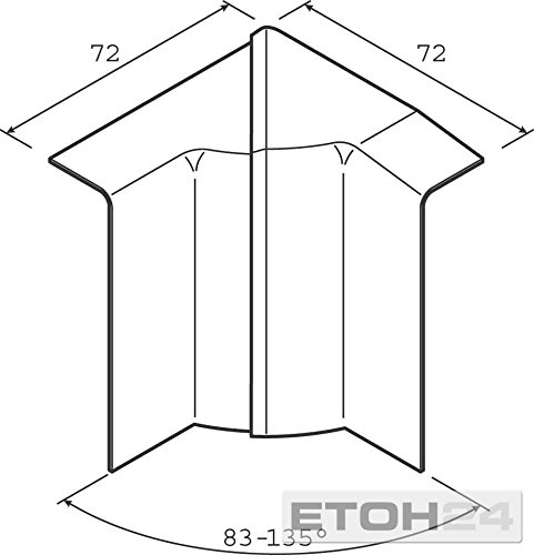 Hager tehalit SL/ /Angulo Innenraum SL20080/Aluminium
