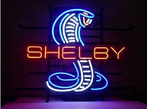 Shelby Cobra Neon Sign 24''x20''Inches Bright Neon Light for Store Beer Bar Pub Garage Room