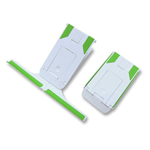 Plinth - upgrade your tablet and case with the tiny stable pocket travel tablet stand for any Apple iPad, Google Nexus, Samsung Galaxy, Sony Xperia and all tablets, E-readers, smartphones and books (White/Green) from Electronic-Readers.com