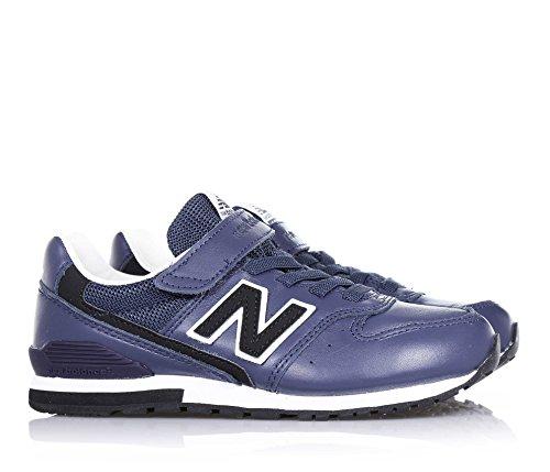 velcro NEW l'arrière caoutchouc en Chaussure en à Bleu semelle visibles avec garçon sport logo cuir lacets bleue de garçons latéral et coutures et BALANCE élastiques XnZ15r8X
