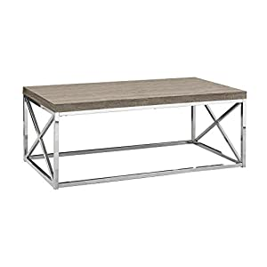 Monarch Specialties, Cocktail Table, Chrome Metal