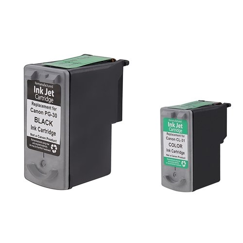 eForCity BLACK+COLOR INK Compatible with CANON MP190 MP210 MP470 MX300 MX310, Office Central