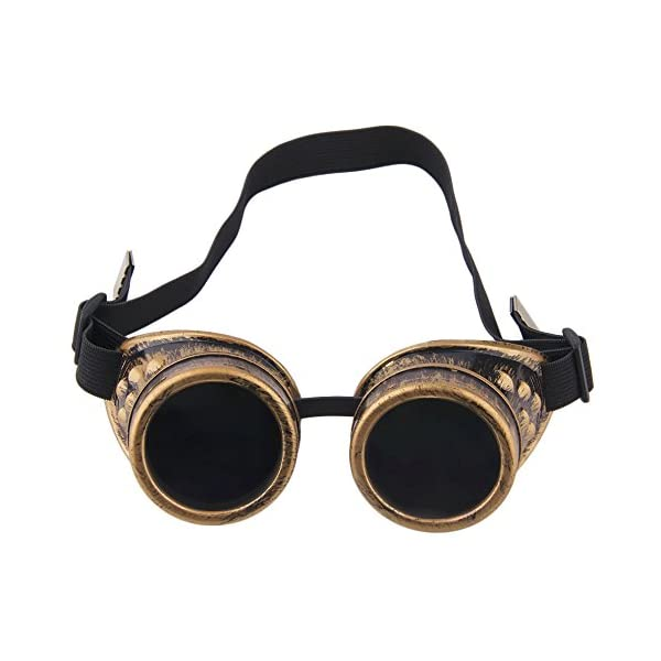 Nicky Bigs Novelties Steampunk Cosplay Goggles, Black, One Size 6