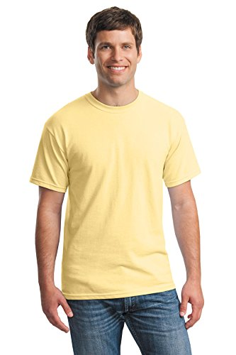 Tee Uomo Heavy Yellow Giallo Haze Maglietta Cotton Gildan Ta8xqEE