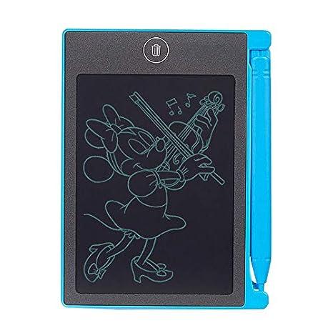 SHOP-STORY – Mini Tablets LCD Tejas mágicos para Escritura y Dibujar (borrado con un lápiz Capacitivo – Azul