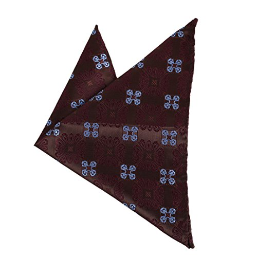 Dan Smith DEE7B23E Creative Classic Brown Patterned Microfiber Hanky Fitted Gifts Giving Fantastic Marketing Management Set ()