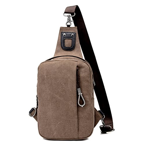 Travel Backpack Multi Laidaye Bag Canvas Brown purpose Shoulder Business Retro Leisure c8AqaSw