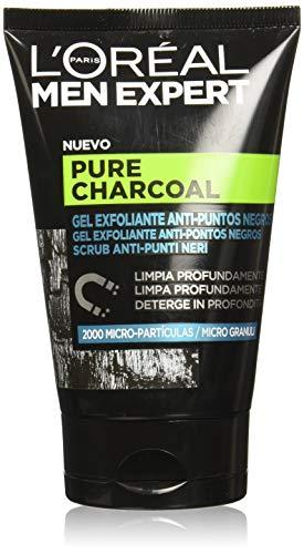 L'Oréal Paris Exfoliante Facial de Men Expert, Pure Charcoal, 100 ml, 2 unidades