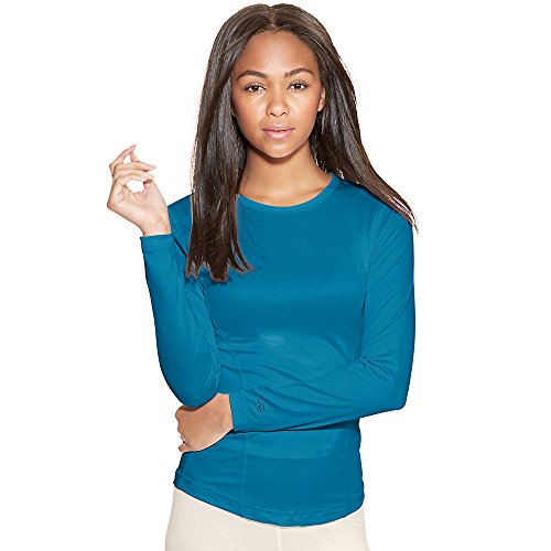 Duofold by Champion Varitherm Women's Base-Layer Long-Sleeve_Underwater Blue_L